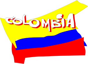Colombian flag graphic