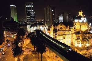Colombia by night