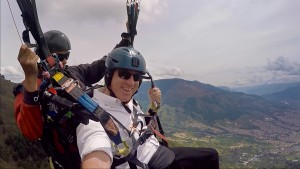 Having FUN above San Felix with h Medellin Paragliding
