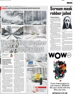 Another front page photo: Snow Patrol images on page 3.